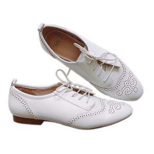 ZARA Cream Lace Oxford Loafers